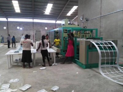 PS foam container forming machine